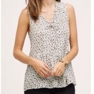 Anthro Holding Horses Floral Sleeveless Top - 6